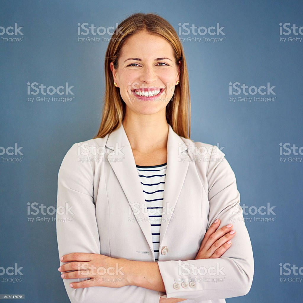 Positivity can get you anywhere and everywhere stock photo