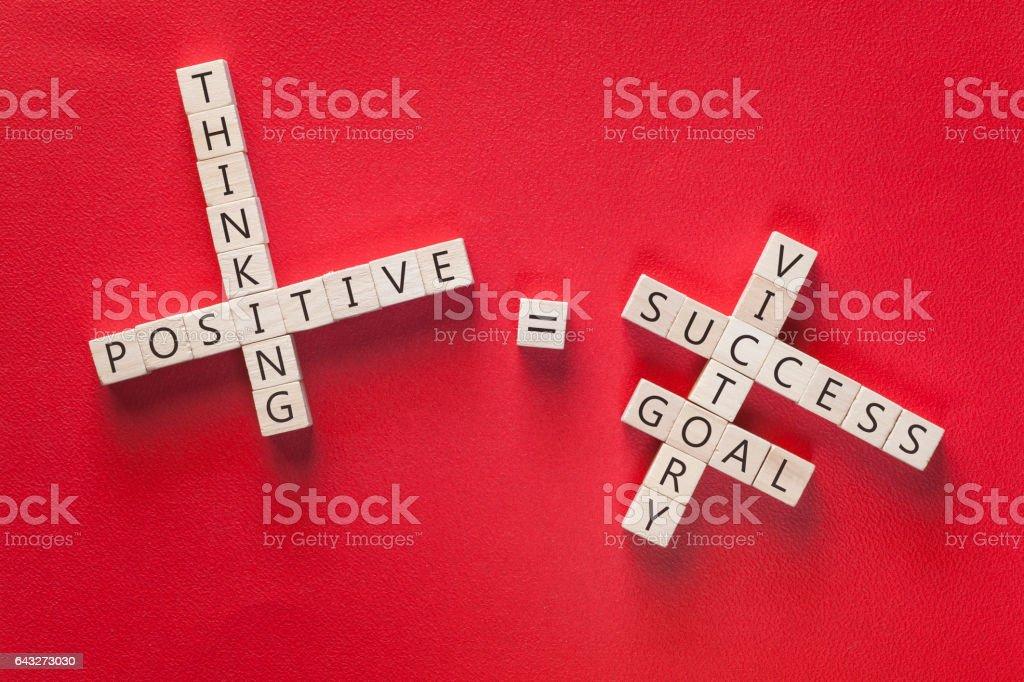 Positivity concept stock photo