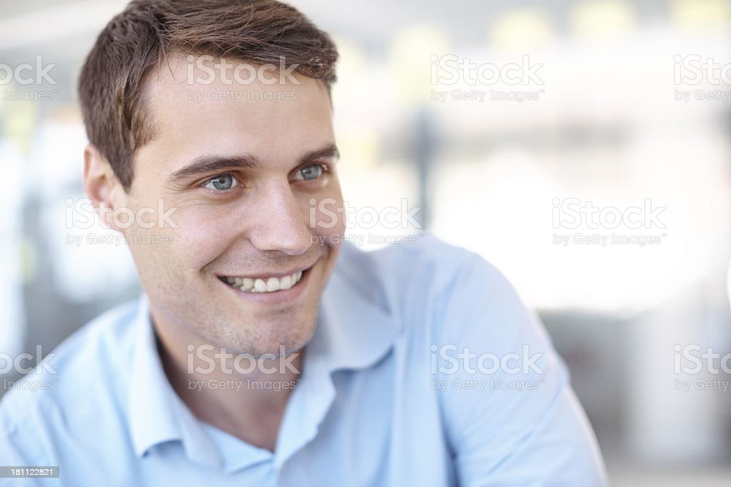 Positivity has been his key to success royalty-free stock photo