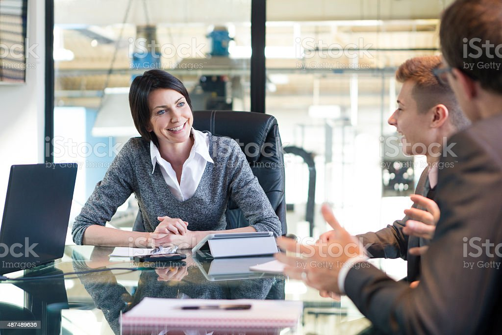 Positivity in the Conference Room stock photo
