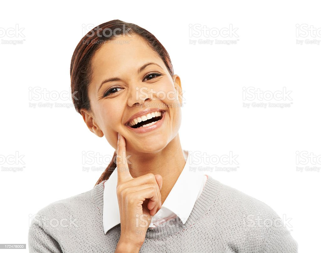 Positivity is her biggest attribute royalty-free stock photo