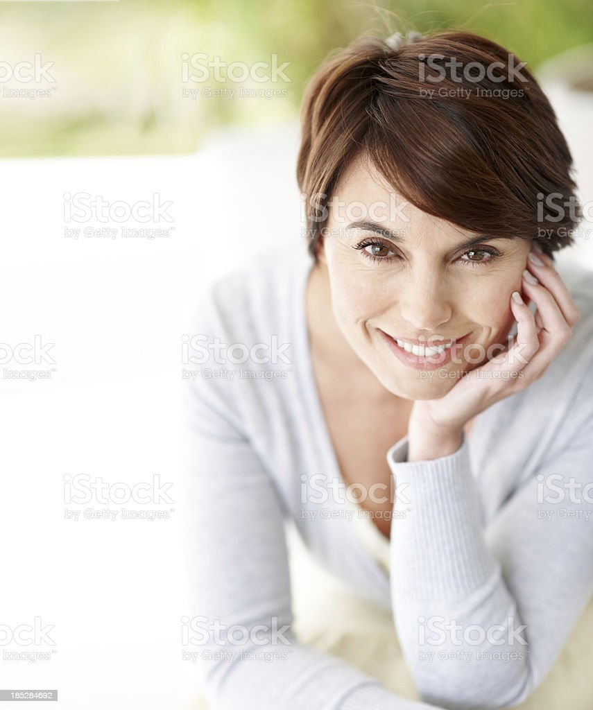 Positivity is my secret weapon stock photo