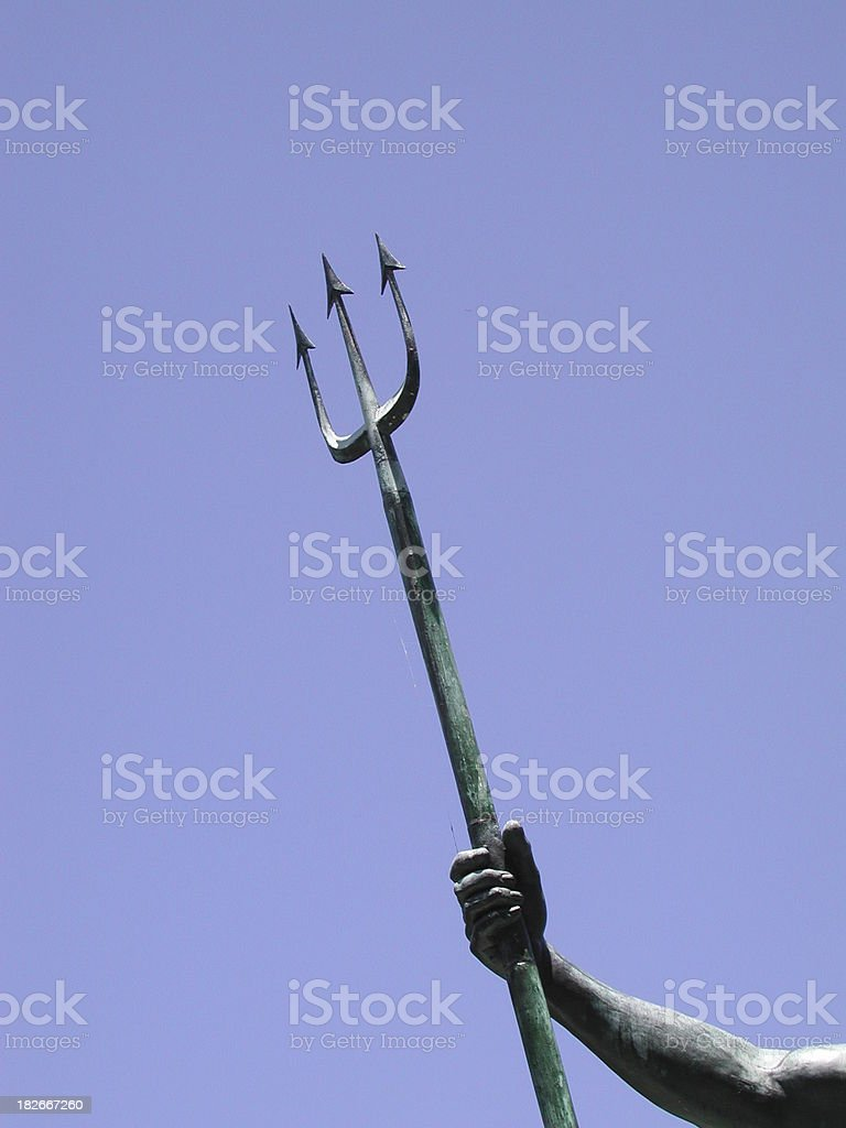 Posseidon's trident stock photo