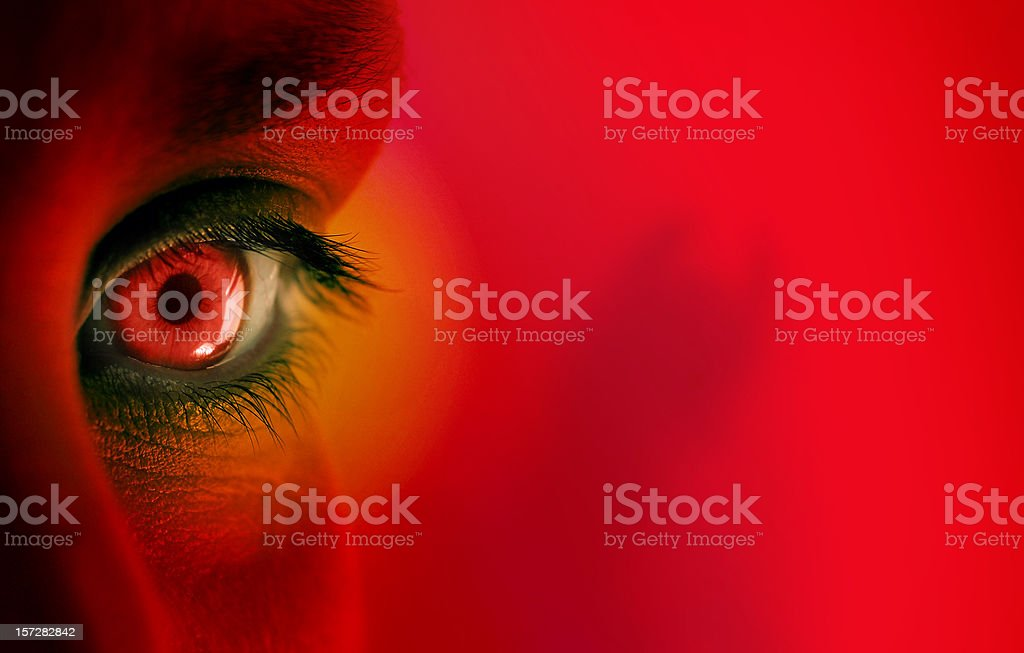 possessed - do you believe in devil? royalty-free stock photo