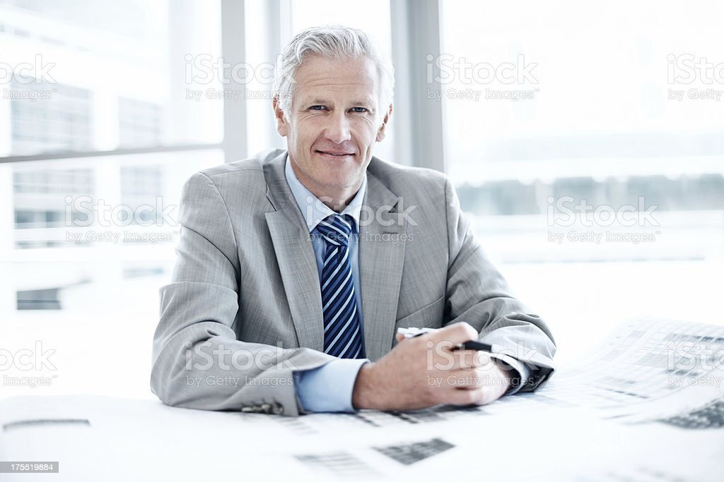 Possessing years of valuable experience stock photo
