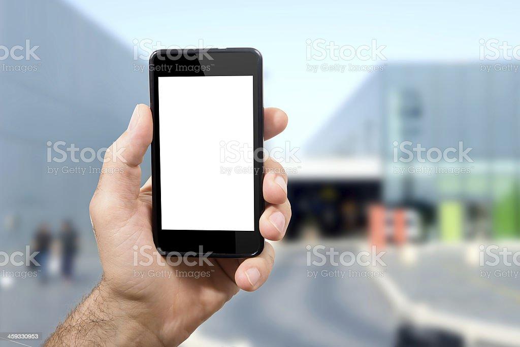 possession of smartphones stock photo