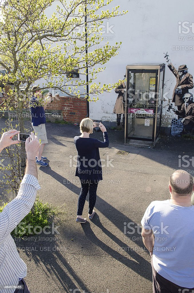 Possible Banksy artwork, Cheltenham stock photo