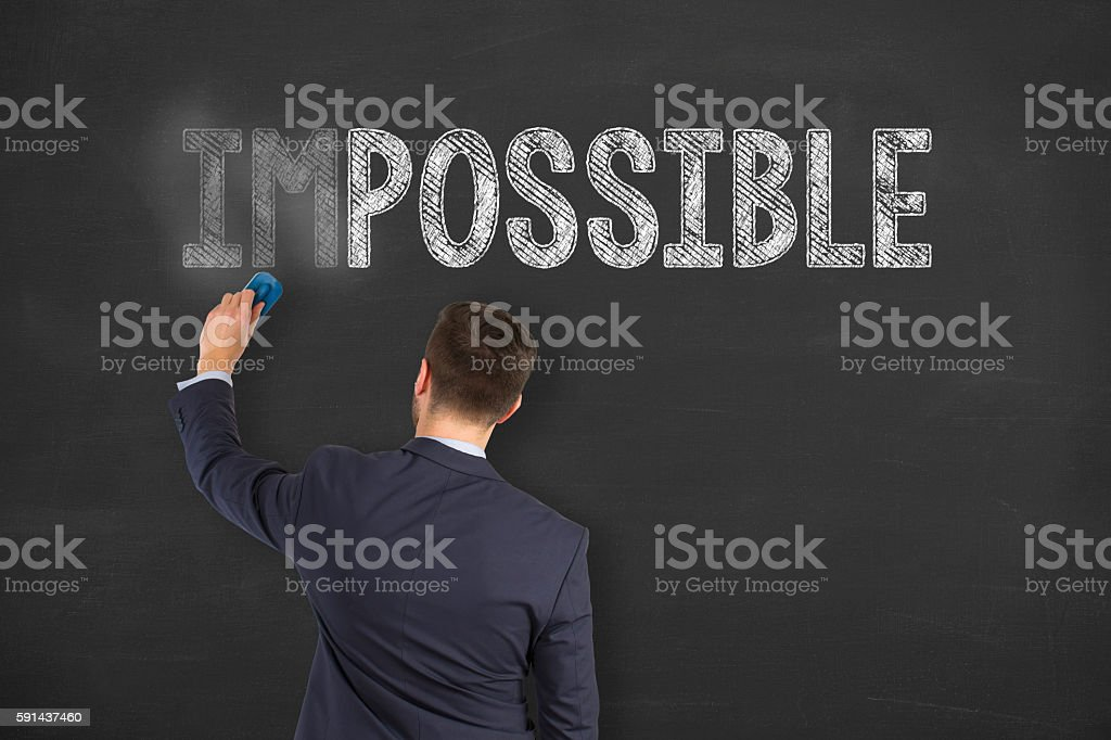 Possible Concept on Chalkboard Background stock photo