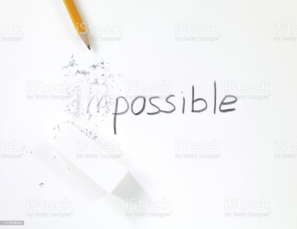 (im)possible concept royalty-free stock photo
