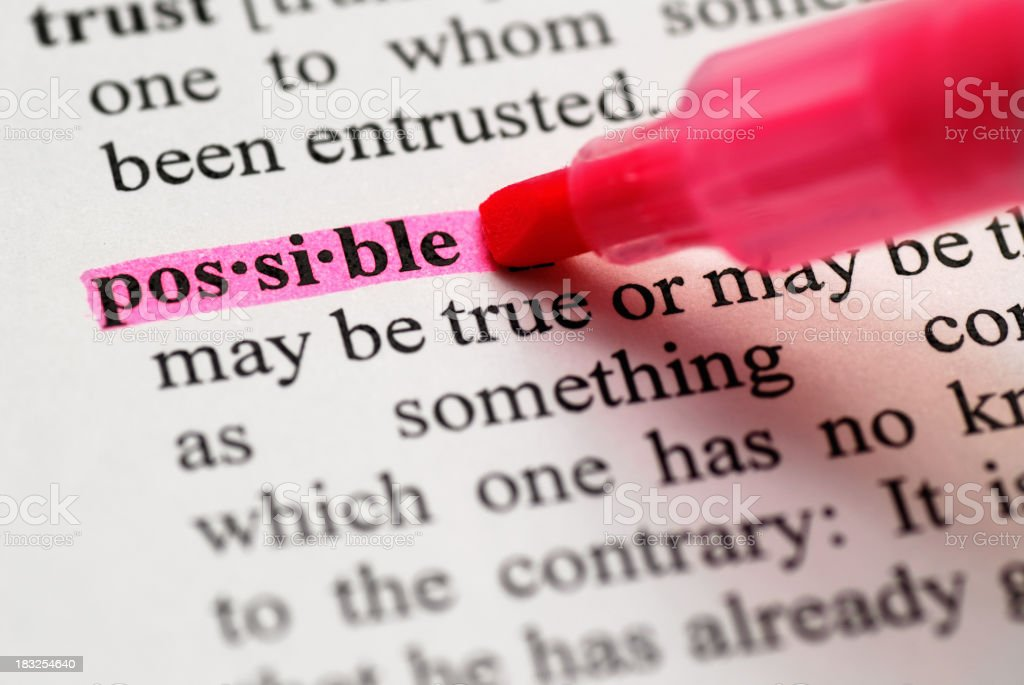 Possible highlighted in dictionary royalty-free stock photo