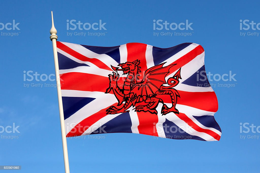 Possible new design for flag of the United Kingdom stock photo