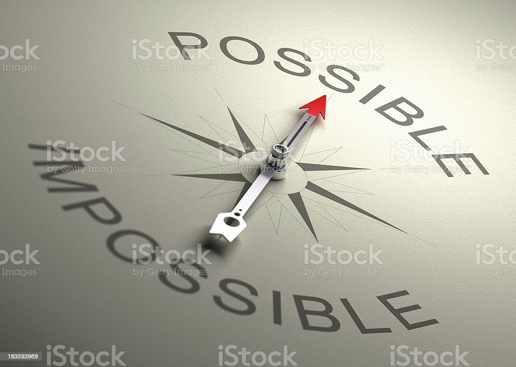 Possible VS Impossible stock photo