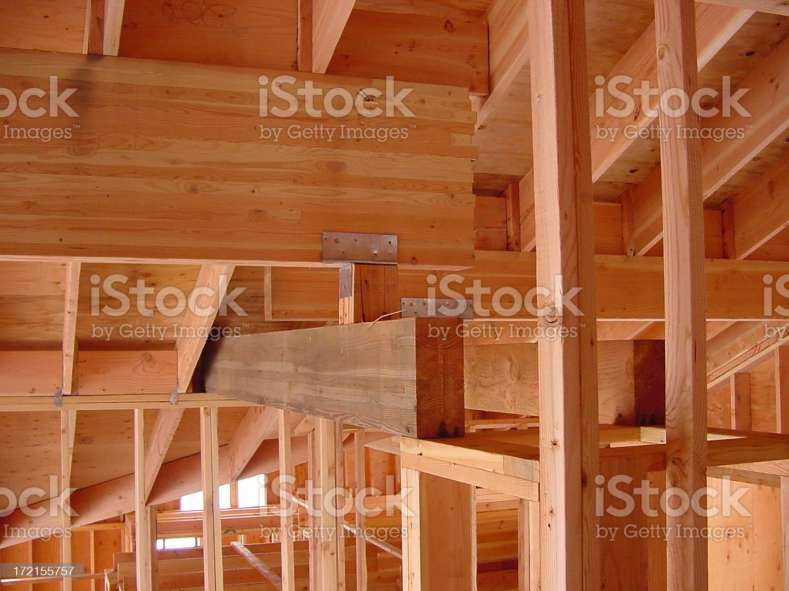Post and Beam with Some Framing Too royalty-free stock photo