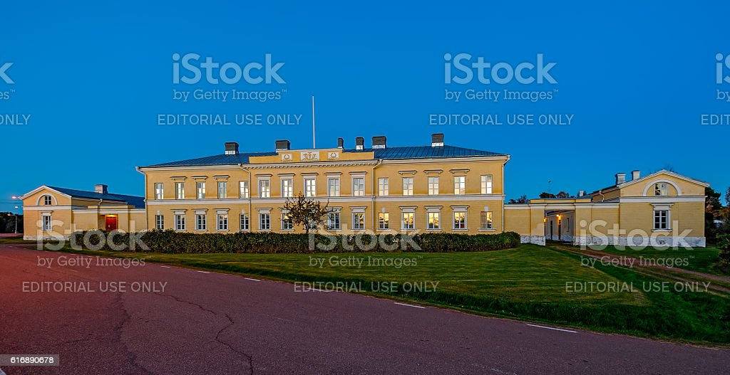 Post and Custom Museum in Storby, Aland. stock photo