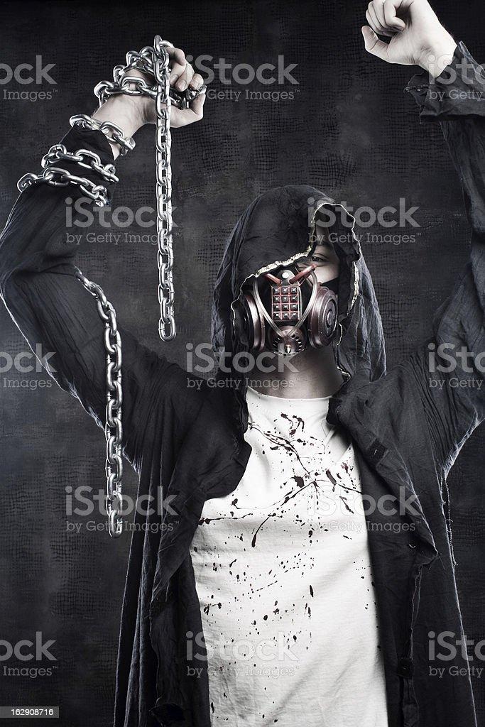 Post apocalyptic champion royalty-free stock photo