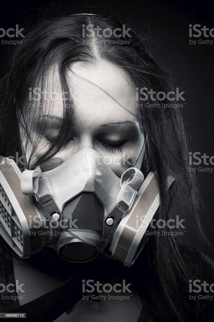 Post apocalyptic girl royalty-free stock photo