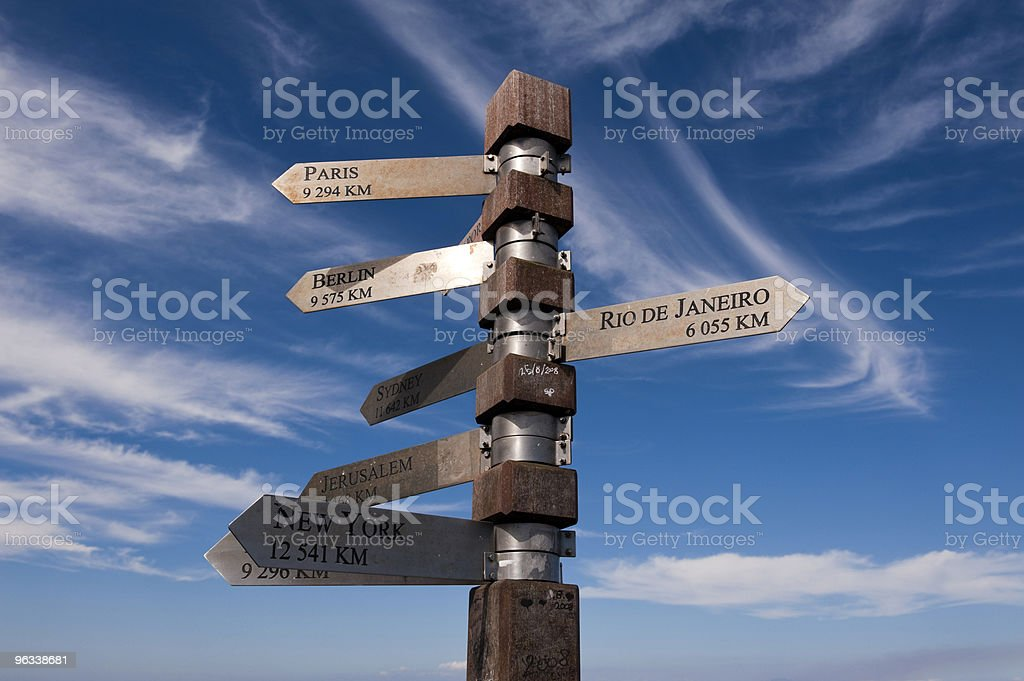 Post at Cape of Good Hope royalty-free stock photo