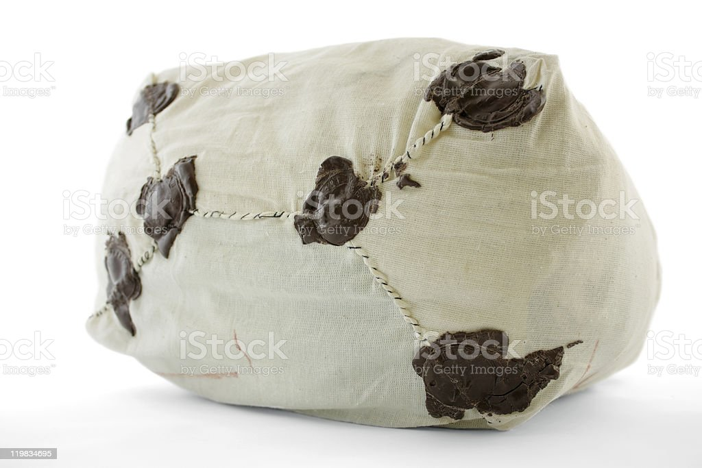 Post Bag with Wax Seal royalty-free stock photo