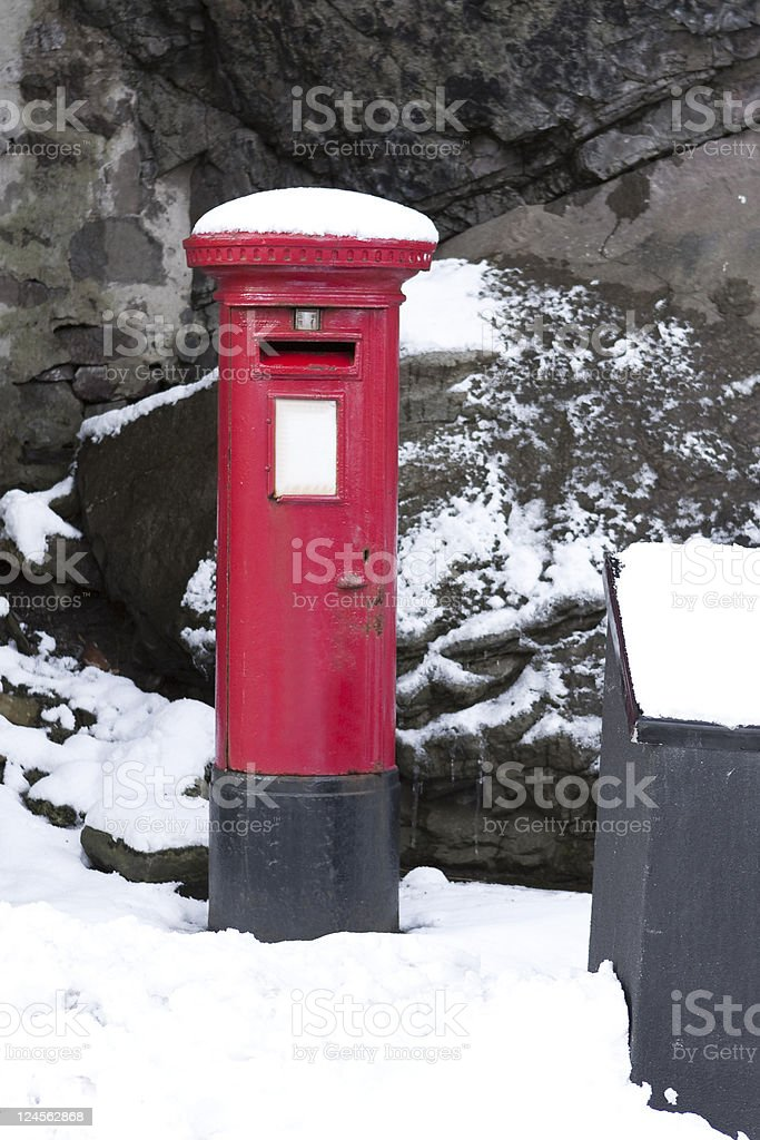 Post Box in the Snow royalty-free stock photo