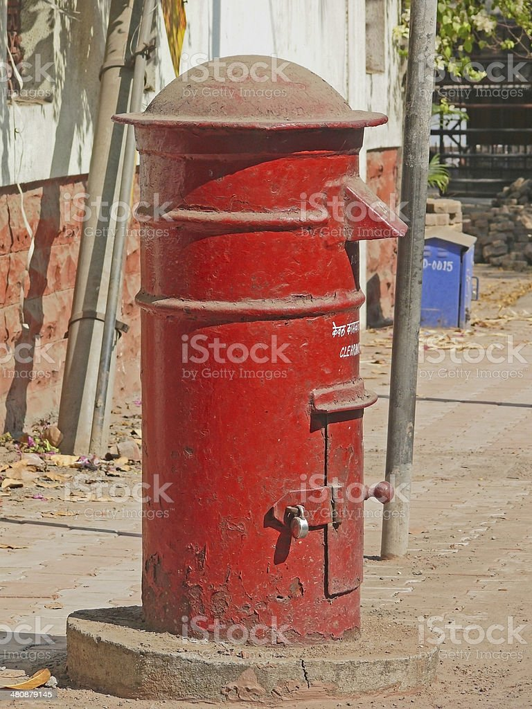 Post box, Mailbox. Pune, Maharashtra, India stock photo