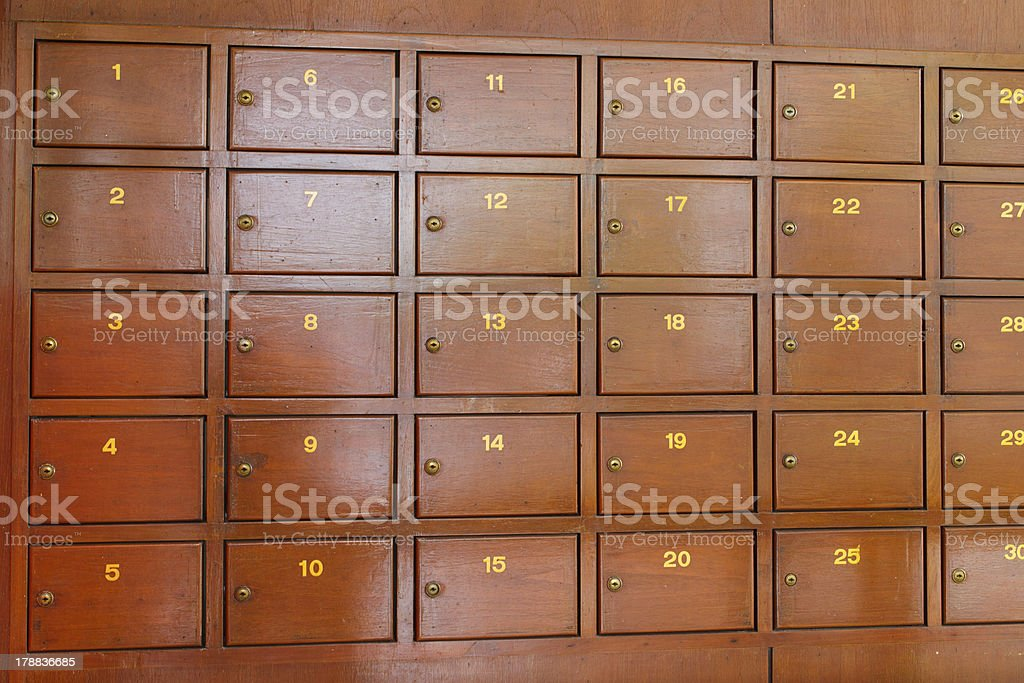 Post Box royalty-free stock photo