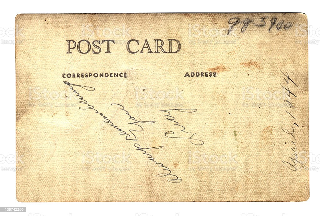 Post card from Lucy WWII royalty-free stock photo