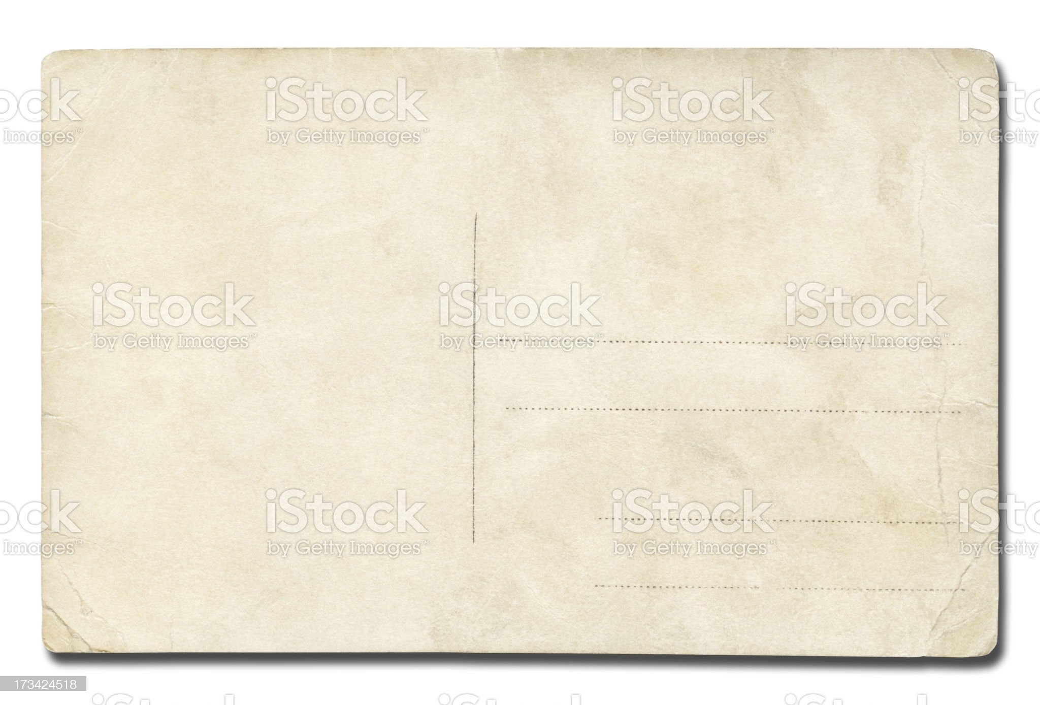 Post card isolated on white royalty-free stock photo