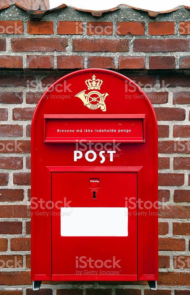 Post Danmark, danish mail box royalty-free stock photo