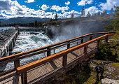 Post Falls Dam overlook.