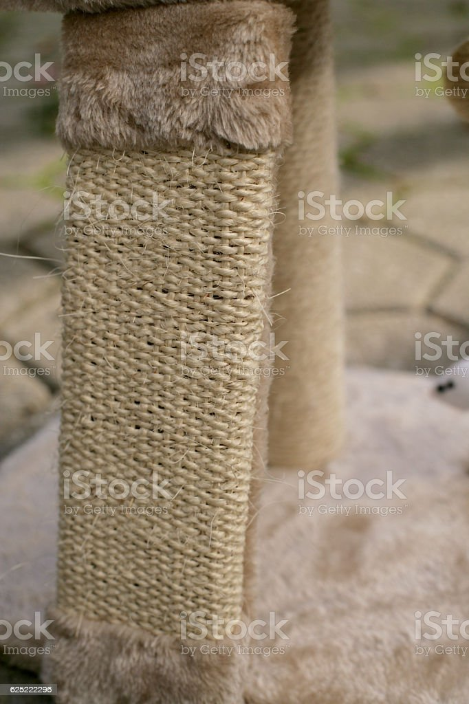 Post for cat paws sharpening stock photo