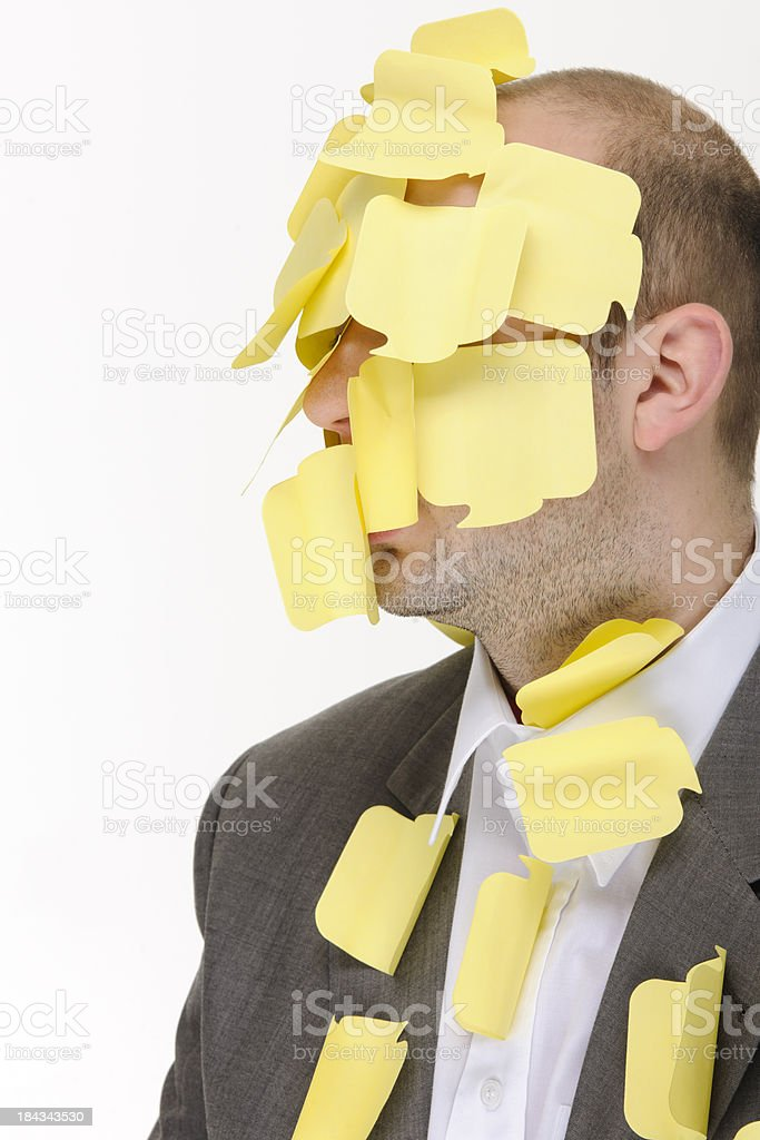 post it man royalty-free stock photo