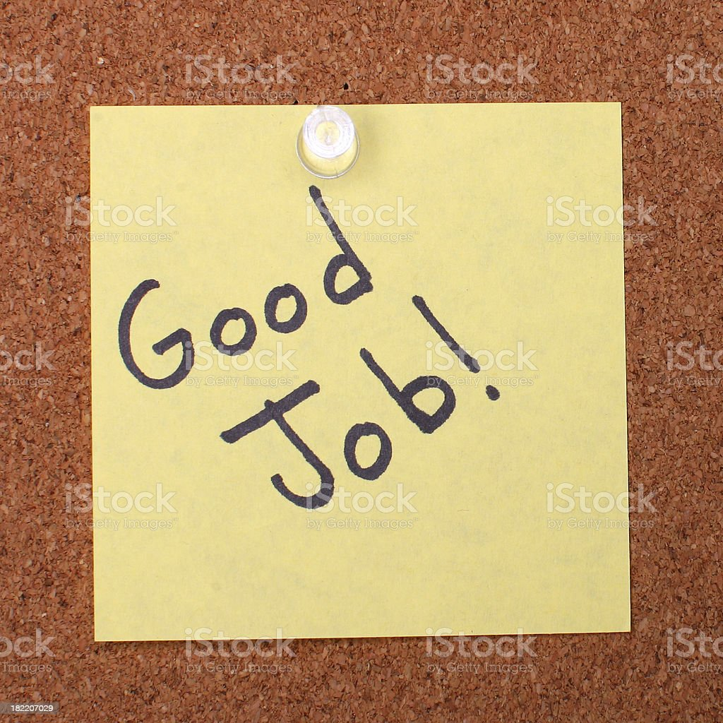 post it note on cork board royalty-free stock photo