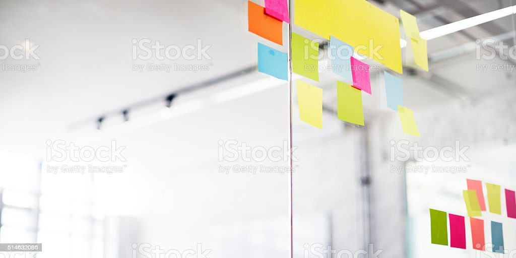 Post It Office Reminding Notice Organization Concept stock photo