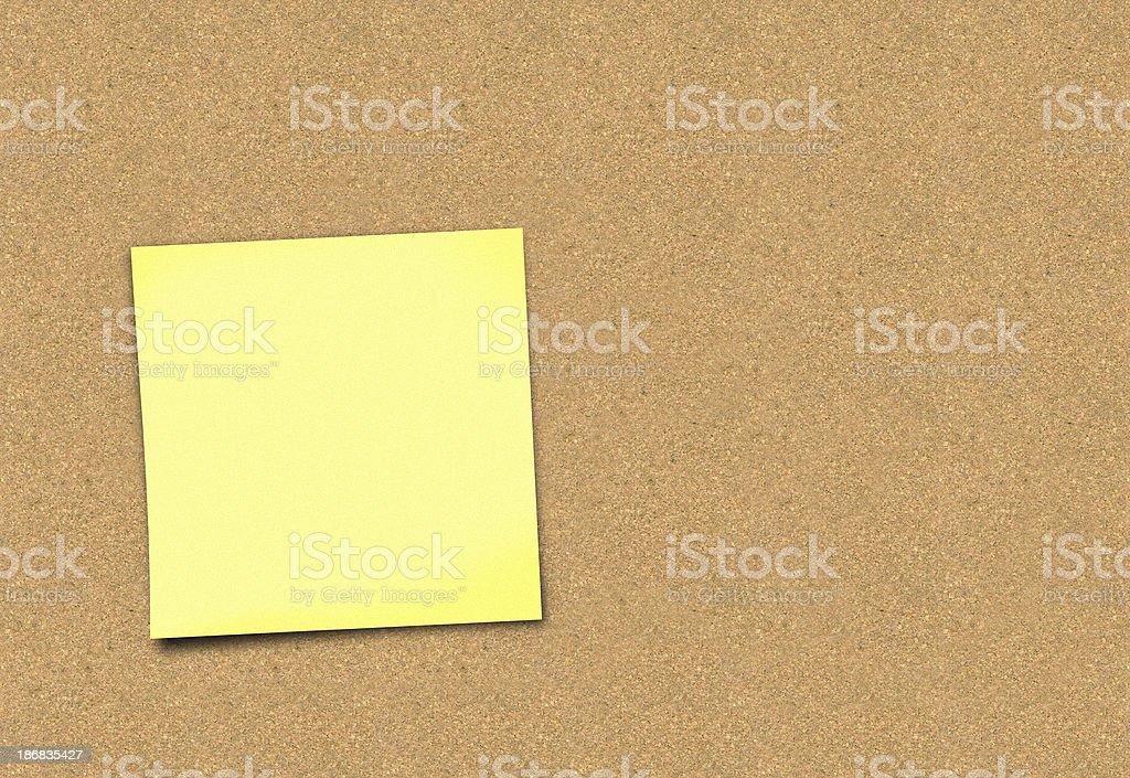 post it on corkboard stock photo