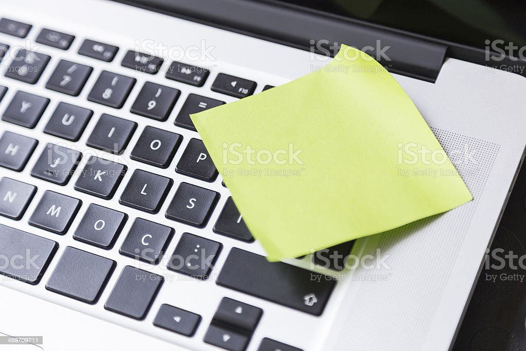 Post It on the Notebook royalty-free stock photo