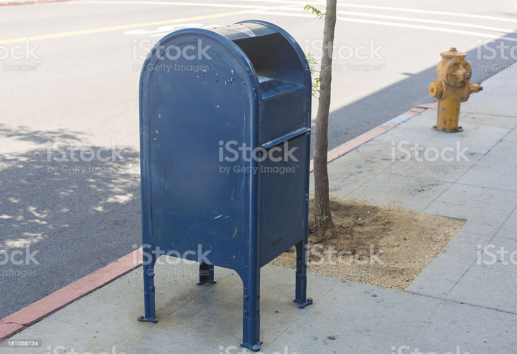 US Post Mail Box stock photo