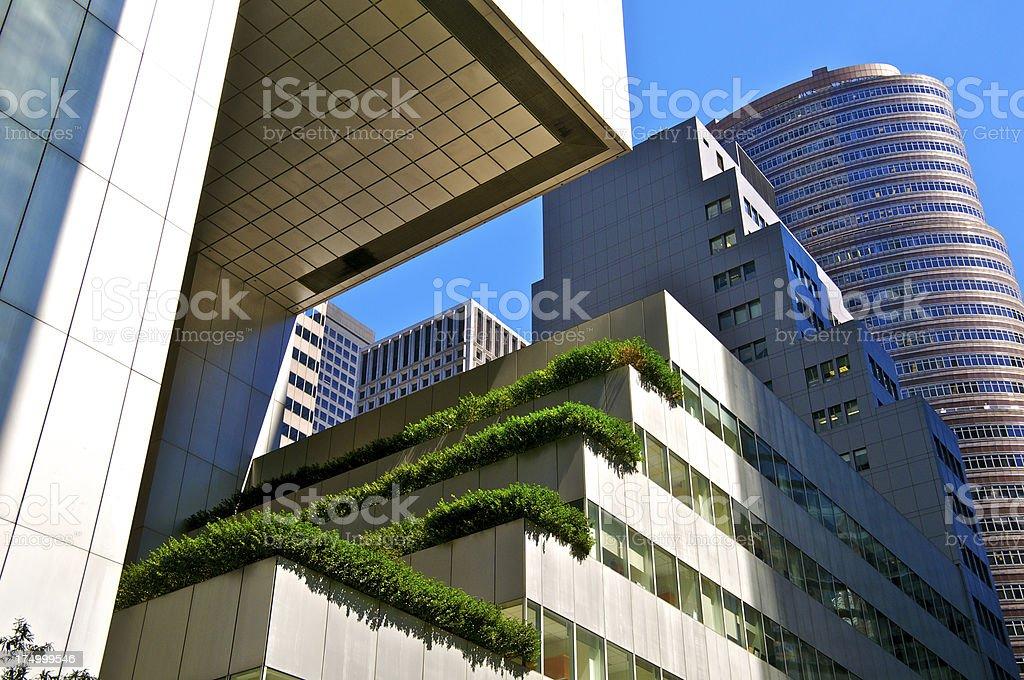 Post Modern High Rise Buildings, Midtown Manhattan New York City stock photo