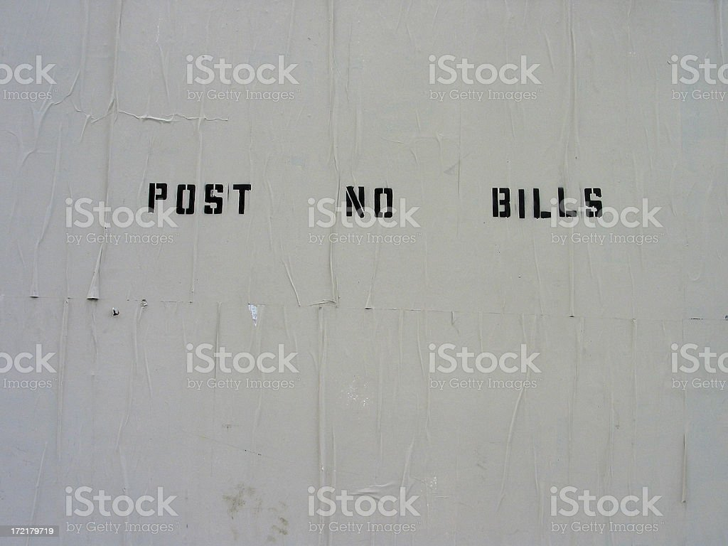 Post No Bills Wall royalty-free stock photo