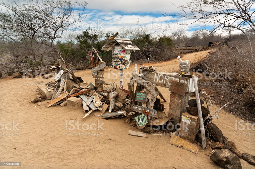 Post Office Bay Galapagos Islands stock photo
