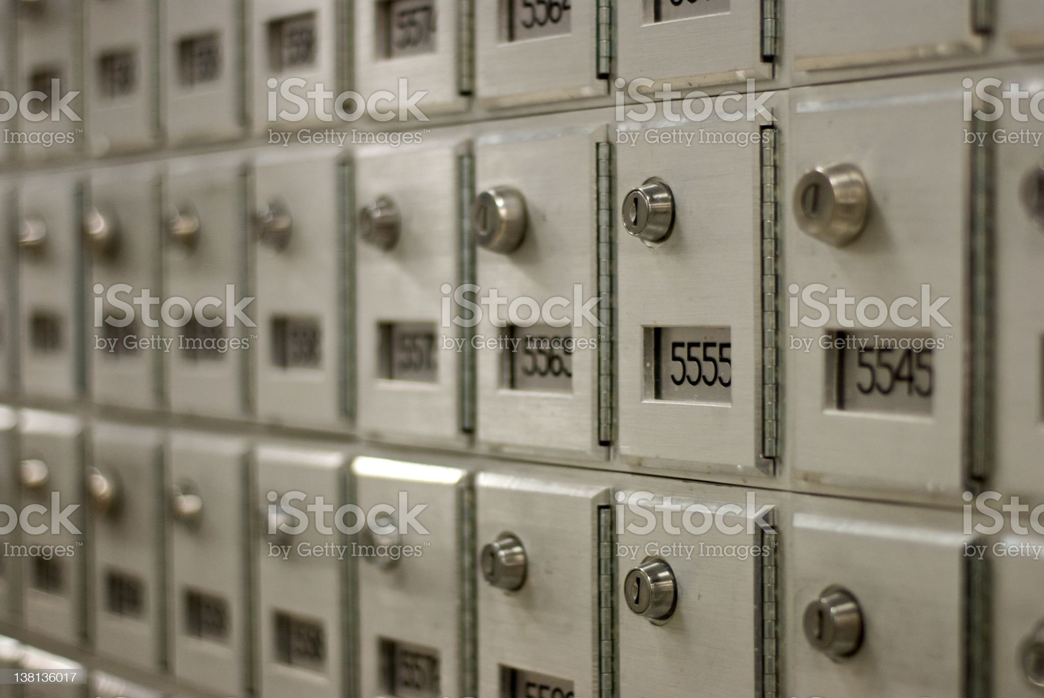 post office box royalty-free stock photo