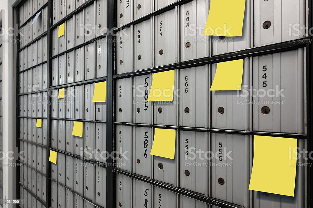 Post Office Boxes stock photo