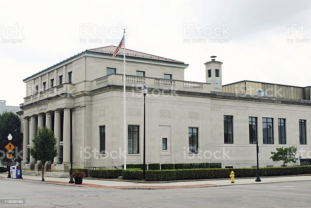 Post Office Building royalty-free stock photo