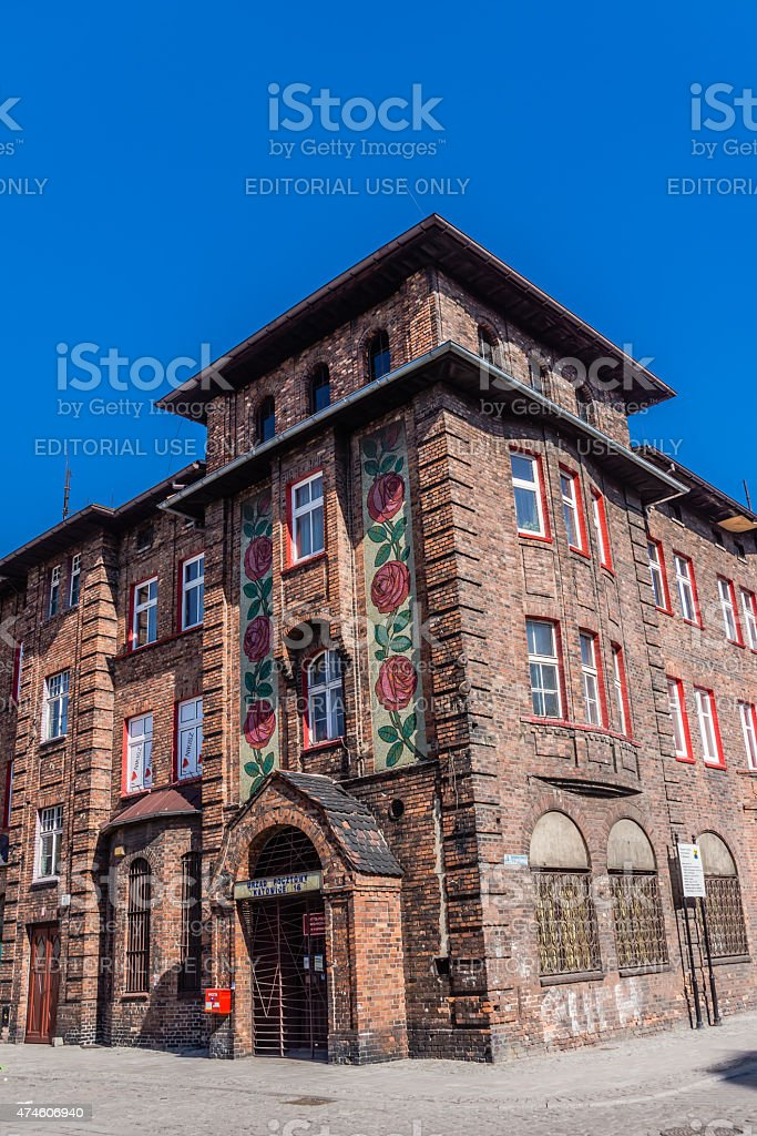 Post office in Nikiszowiec stock photo