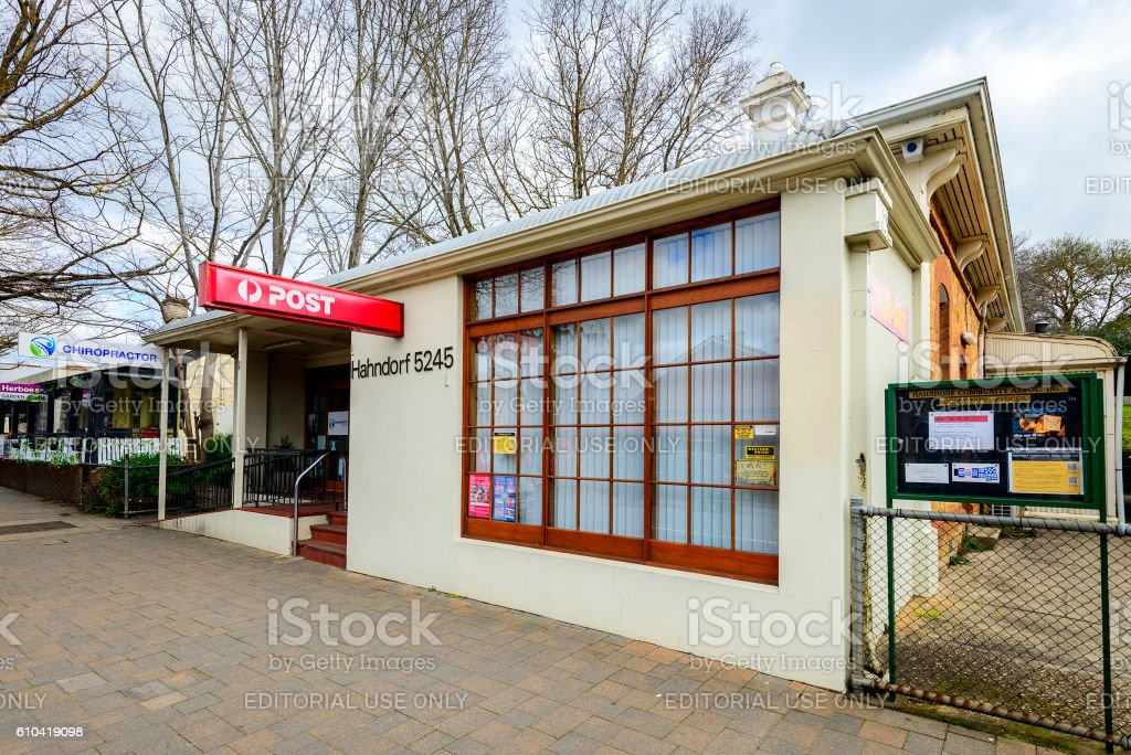 Post Office shop in Hahndorf stock photo