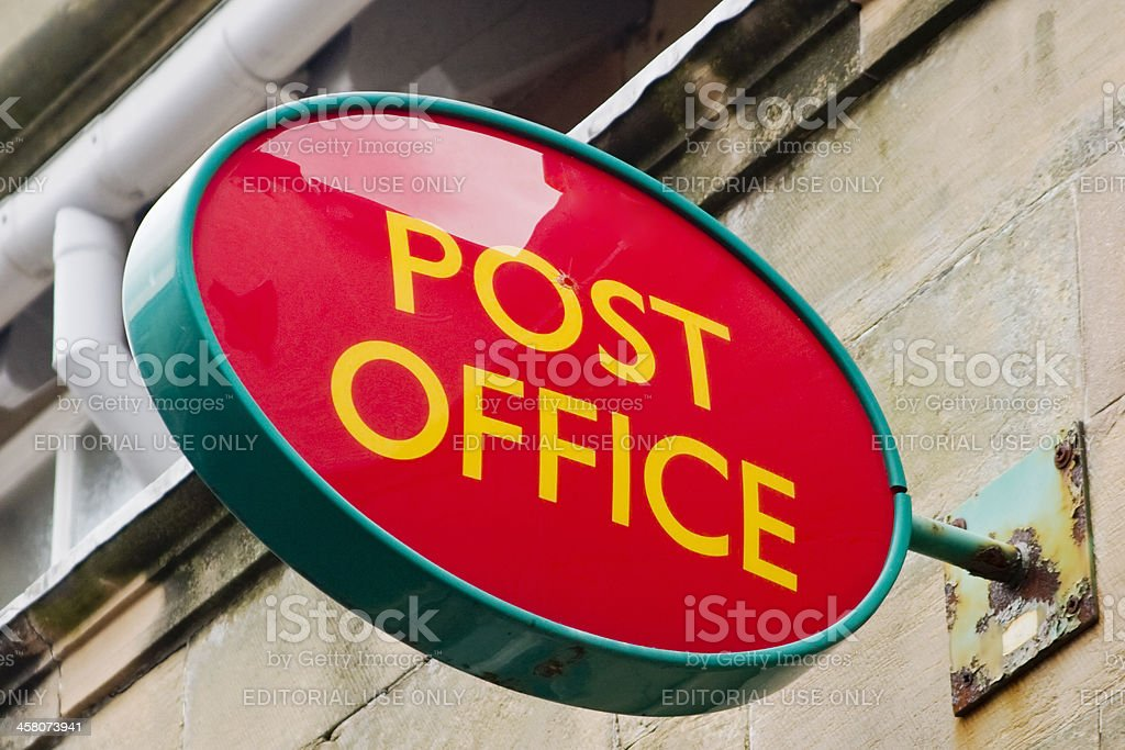 Post Office sign royalty-free stock photo