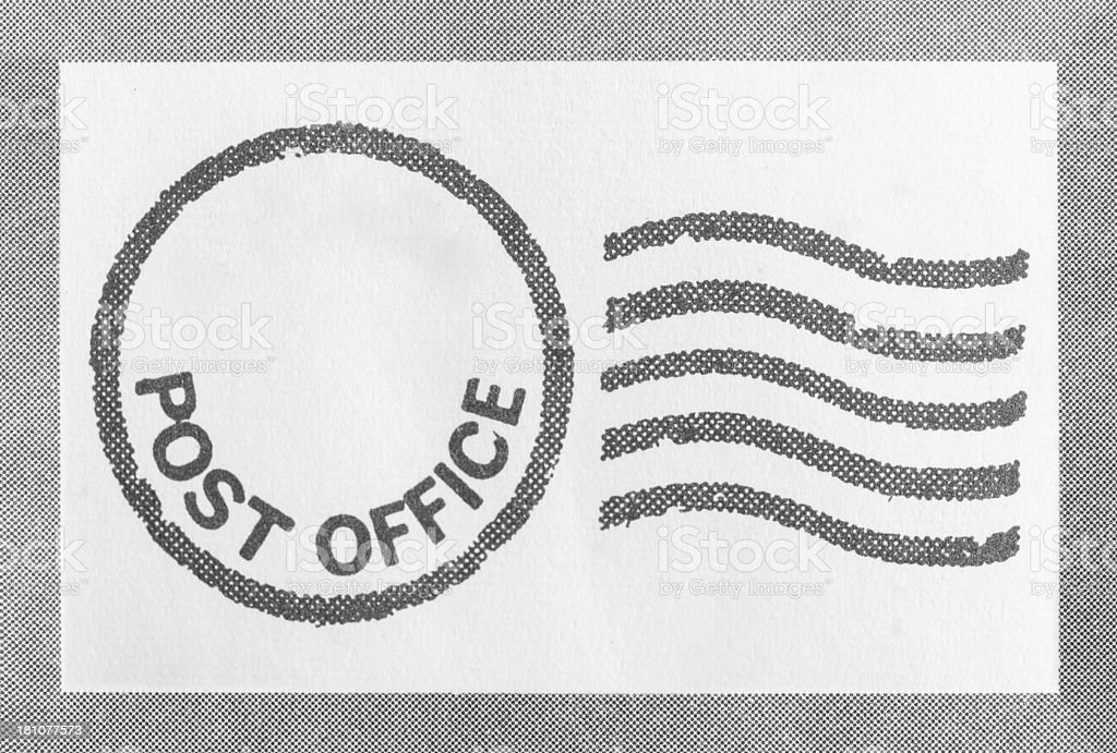 Post Office Stamp royalty-free stock photo