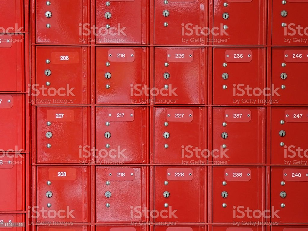 Post offices boxes stock photo