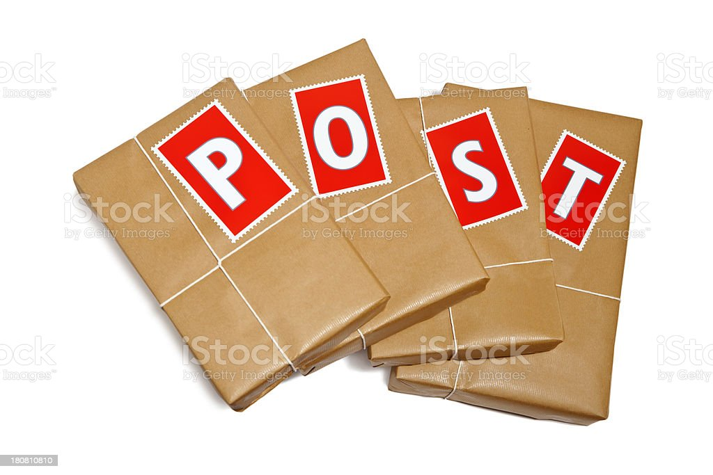Post & Packing stock photo