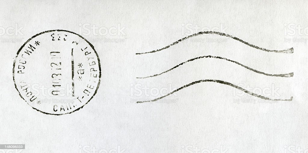 Post stamp royalty-free stock photo