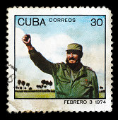 Post stamp with Fidel Castro